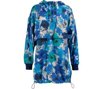 Run Blossom printed shell hooded jacket