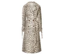 Leopard-print Cotton-canvas Trench Coat