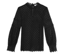 Amia macramé lace blouse