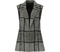Eldora Wool-blend Bouclé Vest Schwarz