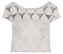 Cropped Devoré Cotton-blend Top Stein