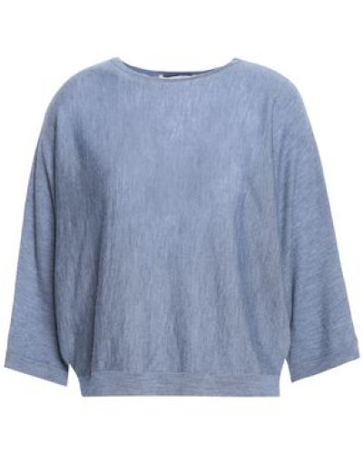 Open-back Cashmere Sweater Light Blue