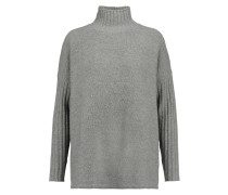 Cashmere And Merino Wool-blend Turtleneck Sweater Grau