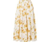 Sonny Floral-print Cotton-voile Midi Skirt