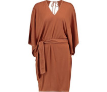 Draped crepe mini dress