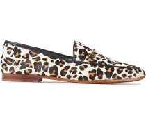 Loraine Leopard-print Calf Hair Loafers