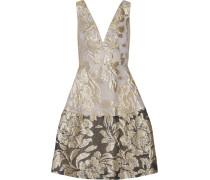 Metallic Matelassé Dress Gold