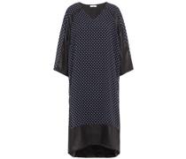 Beschichtetes Kleid aus Georgette mit Polka-dots