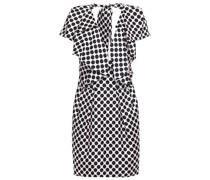 Ruffled Polka-dot Silk-twill Mini Dress