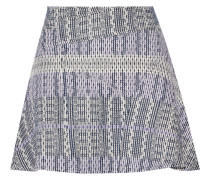 Cotton-blend Tweed Mini Skirt Lavendel