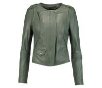 Ramu Leather Jacket Armeegrün