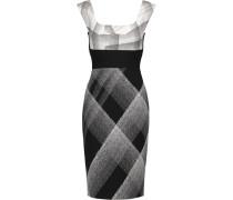 Arabella Printed Wool-blend Crepe Dress Schwarz