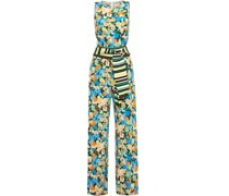 Jumpsuit aus Jersey mit Floralem Print und Gürtel