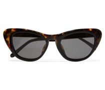 + Linda Farrow Cat-eye Acetate Sunglasses Horn