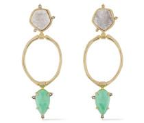 -tone Stone Earrings