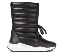 Dora Quilted Faux Leather Snow Boots