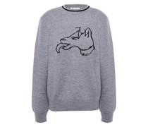 Pullover aus Jacquard-strick aus Einer Wollmischung mit Metallic-effekt