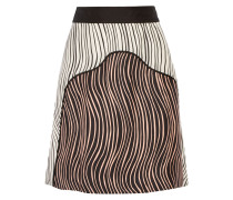 Striped Silk-faille Skirt Schwarz