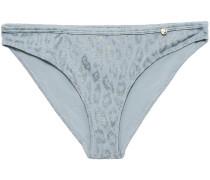 Leopard-jacquard Low-rise Bikini Briefs