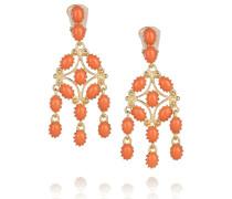 Gold-tone Stone Earrings Korall