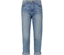 The Slouchy Mid-rise Straight-leg Jeans Heller Denim