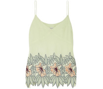 Embroidered Crepe Camisole