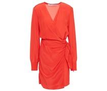 Ophie Crepe De Chine Mini Wrap Dress
