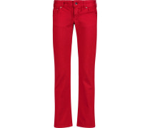 Low-rise Straight-leg Jeans Rot