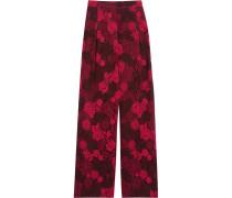 Guipure Lace Straight-leg Pants Rot