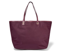 Everywhere Leather-trimmed Twill Tote Burgunder