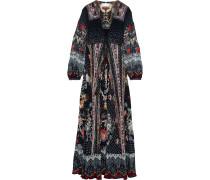 Haute Provincial Embellished Printed Silk-chiffon Maxi Dress