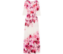 Camelot printed crepe gown