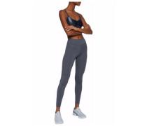 Cropped paneled stretch leggings
