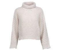 Flocked cashmere-blend turtleneck sweater