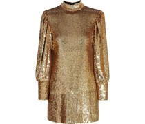 Christy Sequined Tulle Mini Dress