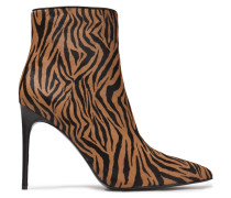 Celyn Zebra-print Calf Hair Ankle Boots