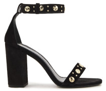 Woman Studded Suede Sandals Black