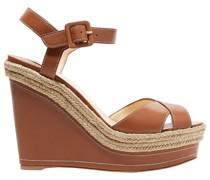 Almeria 120 Leather Espadrille Wedge Sandals