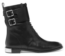 Grove Leather Ankle Boots Schwarz