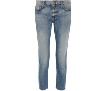 The Unrolled Fling Mid-rise Boyfriend Jeans Mittelblauer Denim