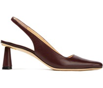 Diana Leather Slingback Pumps