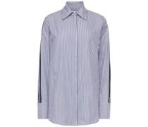 Gestreiftes Hemd aus Baumwoll-jacquard