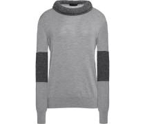 Rickie paneled wool and alpaca-blend sweater