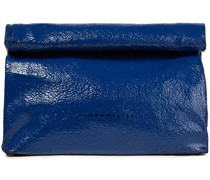 Lunchbag 30 Cracked Patent-leather Clutch