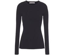 Pullover aus Rippstrick mit Rückenausschnitt