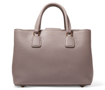 Textured-leather Tote Stein