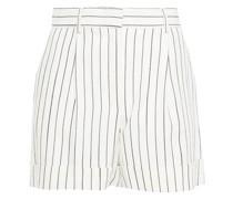 Gestreifte Shorts aus Webstoff mit Falten