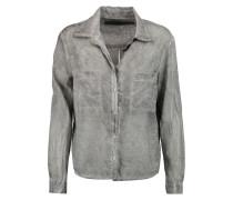 Washed-cotton Shirt Grau