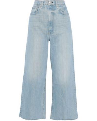 Haru Cropped High-rise Wide-leg Jeans Light Denim  4