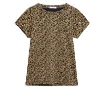 T-shirt aus Pima-baumwoll-jersey mit Blumenprint